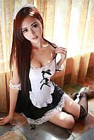 Сексуальный игровой костюм служанки Dear Lover 0334 Черно-белый S/M/L, фото 1