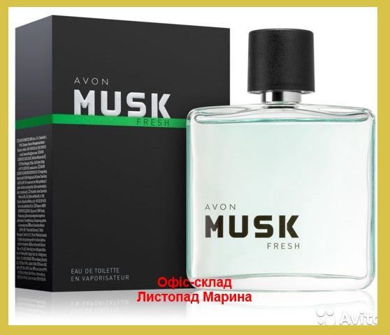 ТУАЛЕТНА ВОДА AVON MUSK FRESH 75 МЛ