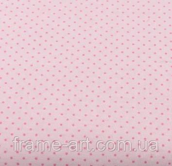 """Хлопковая ткань (бязь) 160см №226а """"Шпильки"""" с розовыми точками на розовом"""