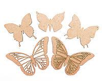 Набор основ для росписи и декорирования Бабочки 5шт ДВП