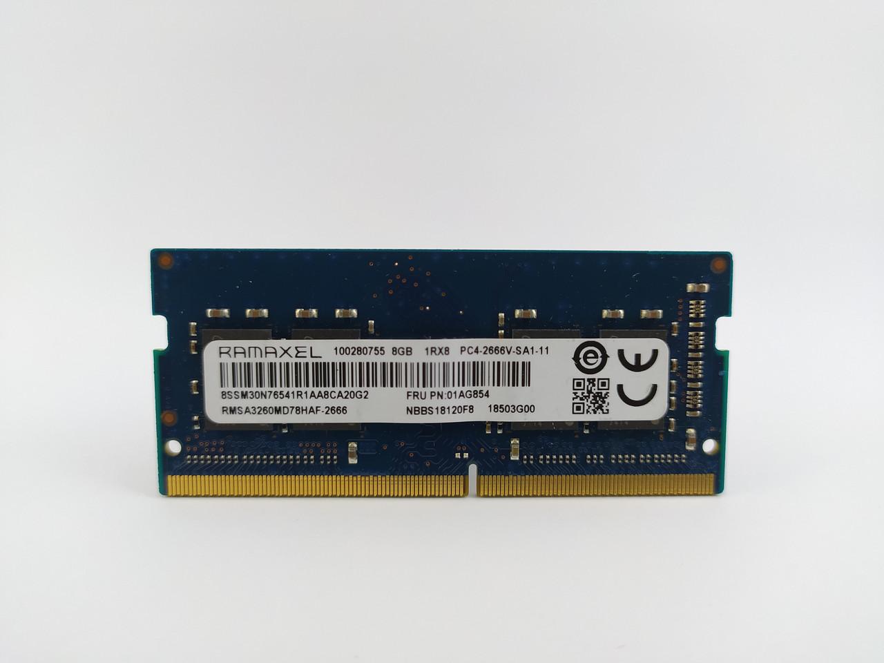Оперативная память для ноутбука SODIMM Ramaxel DDR4 8Gb PC4-2666V (RMSA3260MD78HAF-2666) Б/У