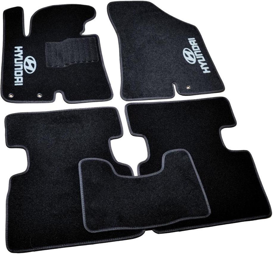 Коврики в салон ворсовые для Hyundai IX35 (2010-) /Чёрные, кт. 5шт BLCCR1229