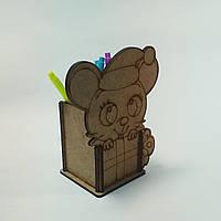 ПА-КЦ- Стакан для канцелярии Мышка 13*7*15,5см