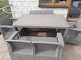 Комплект садових меблів Allibert by Keter Corfu Fiesta Lounge Set Cappuccino ( капучіно ), фото 4