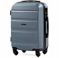 Дорожный чемодан wings AT01 silver blue размер S (ручная кладь), фото 1