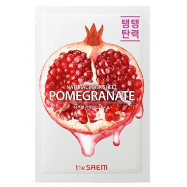 Тканевая маска для лица с экстрактом граната The Saem Natural Pomegranate Mask Sheet 21 мл