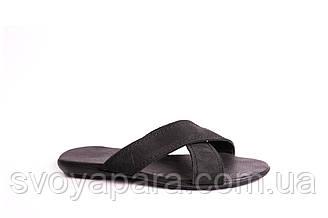 Шльопанці Lider чорний нубук - розмір 40,5