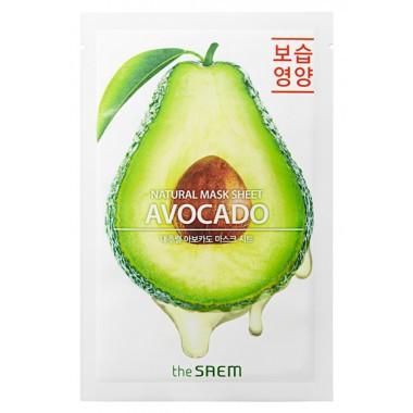 Тканевая маска для лица с экстрактом авокадо The Saem Natural Avocado Mask Sheet 21 мл