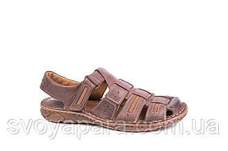 Сандалі Mario Boschetti коричневі великих розмірів 46-47