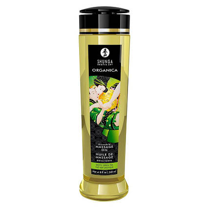 Органическое массажное масло Shunga ORGANICA — Almond Sweetness (240 мл) с витамином Е , фото 2