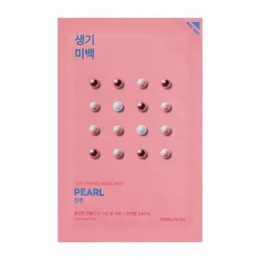 Освітлююча тканинна маска для обличчя Перлова Holika Holika Essence Pure Mask Sheet Pearl 20 мл