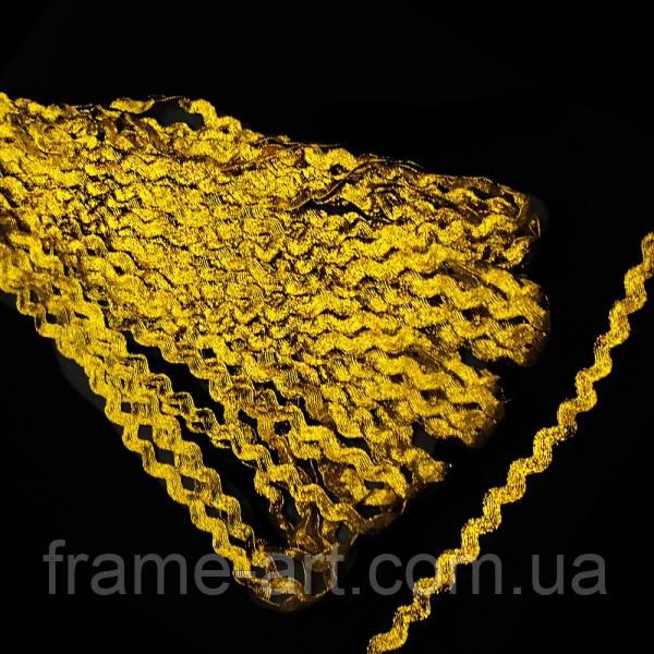 Лента вьюнок арт. 036 люрекс широкий, золото 28174