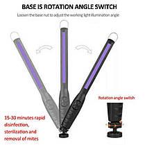 Портативна USB ультрафіолетова бактерицидна лампа УФ стерилізатор, фото 2