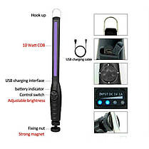 Портативна USB ультрафіолетова бактерицидна лампа УФ стерилізатор, фото 3
