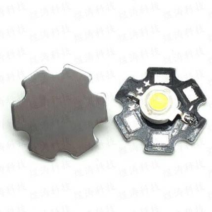 Светодиод мощный на плате 1Вт теплый белый, фото 2