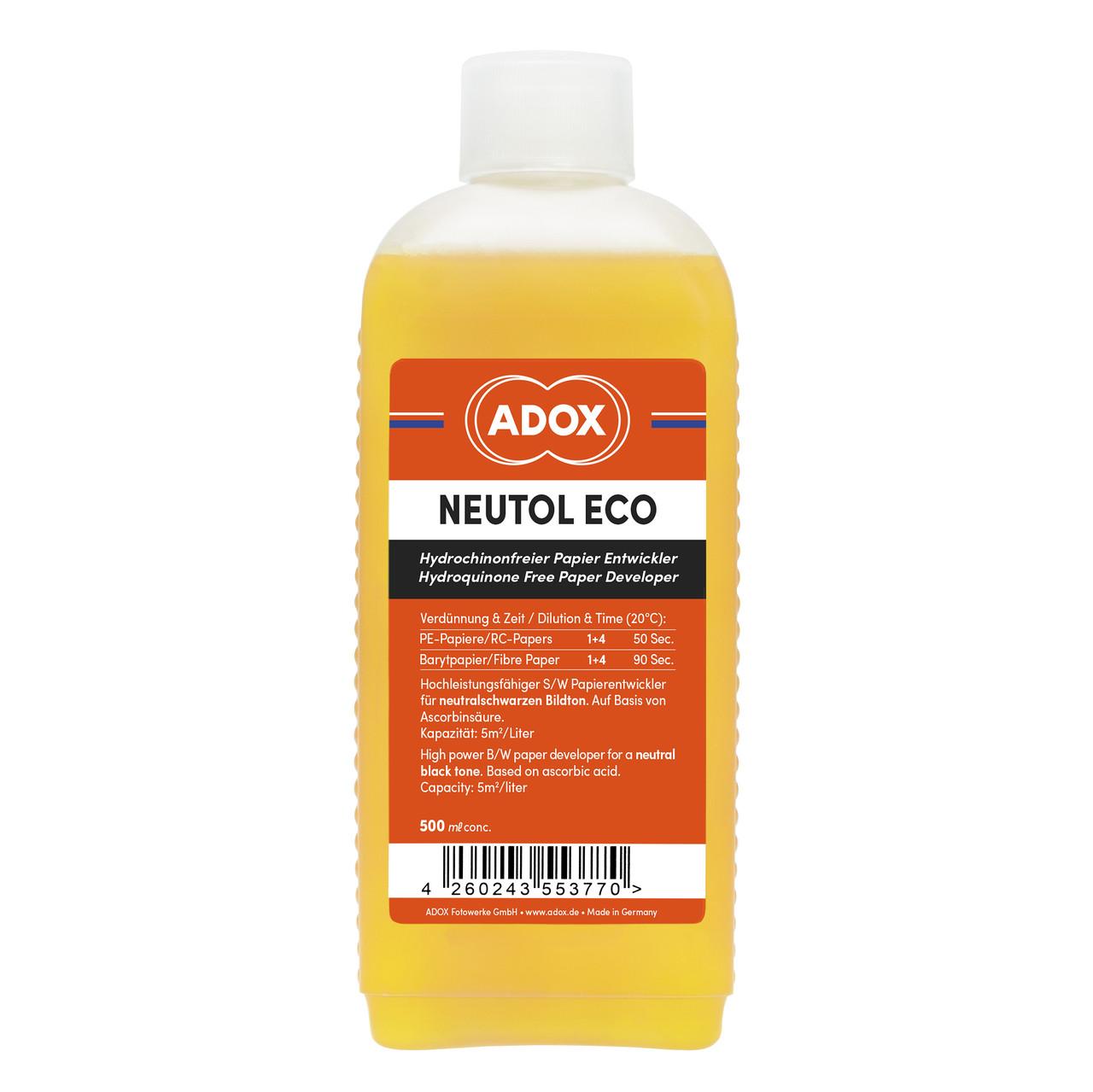 Проявитель ADOX Neutol Eco 500 ml Concentrate  для чёрно- белой фотобумаги.