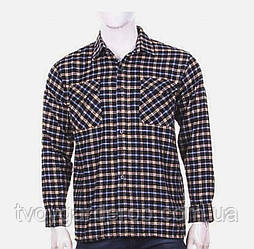 Мужская рубашкафланеливая тонкая (р48-56)