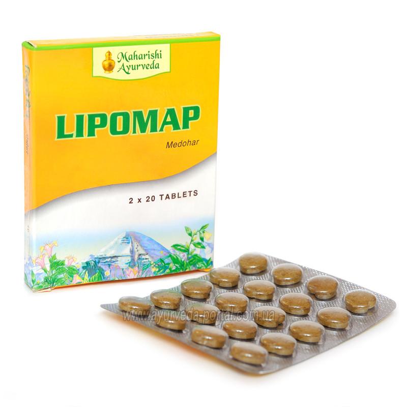 Липомап (медохар) / Lipomap - для похудения, cнижает уровень холестерина и вязкость крови - Махариши Аюрведа -