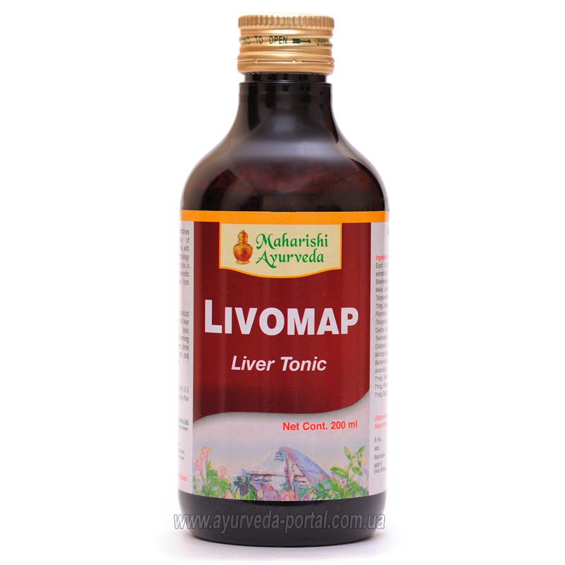 Ливомап сироп / Livomap - улучшение работы печени - Махариши Аюрведа - 200 мл