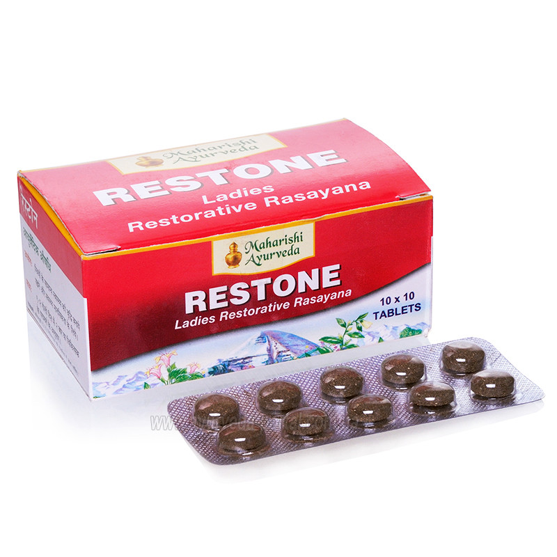 Рестон / Restone - ослаблення ПМС, відновлення циклу, омолодження - Махаріші Аюрведа - 100 таб