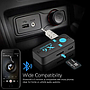 Бездротовий адаптер Bluetooth приймач аудіо ресивер BT-X6 TF card, фото 5