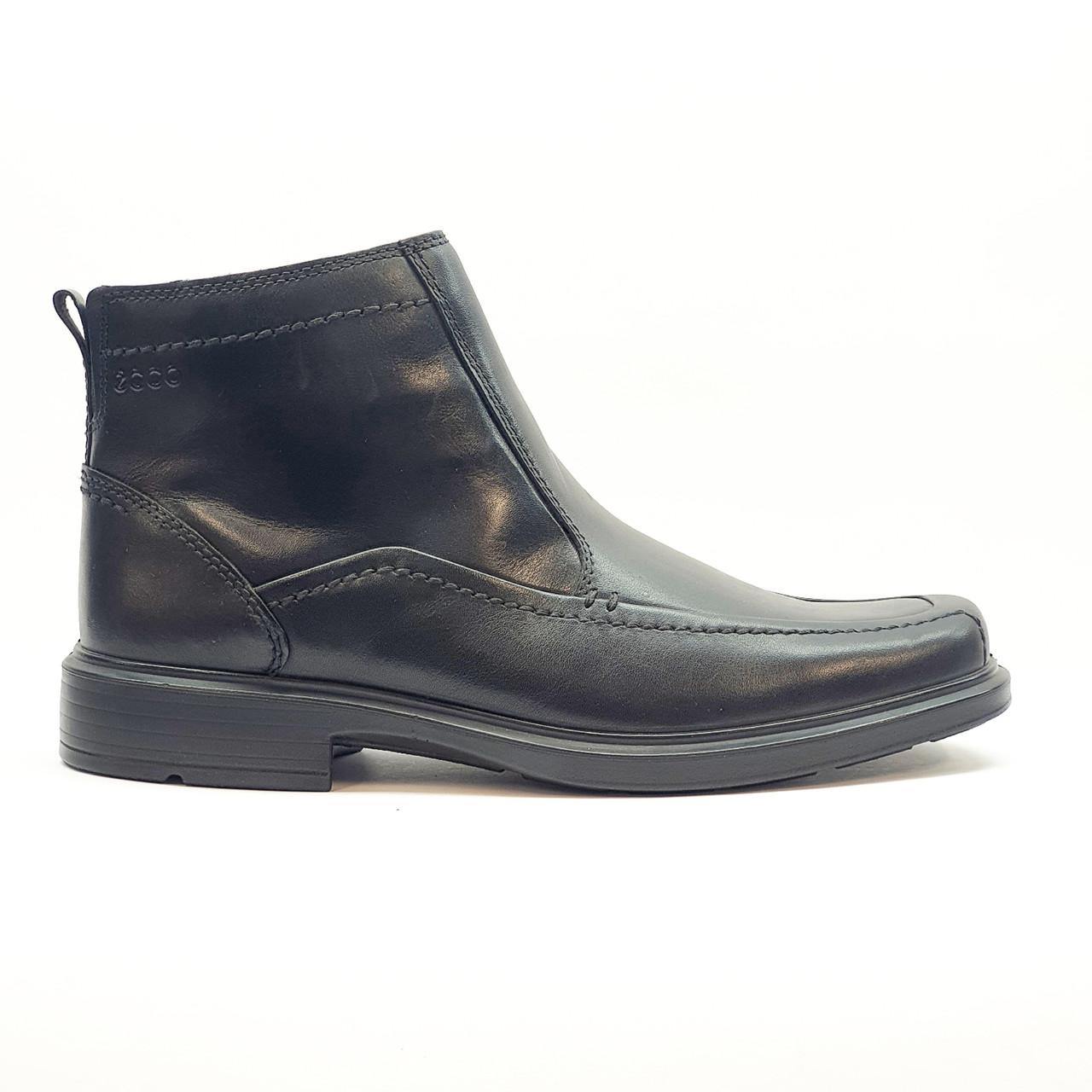 Ботинки зимние мужские классические из натуральной кожи ECCO черные