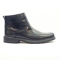 Ботинки зимние мужские классические из натуральной кожи ECCO черные, фото 1