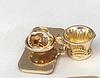 Брошка значок металл чашка кофе обьемная золотистая  брошь barista бариста, фото 5