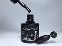 Гель-лак CityNail 291 - Темно Фиолетовый Гель Лак - Сливовый гель лак - Баклажановый гель лак дизайн