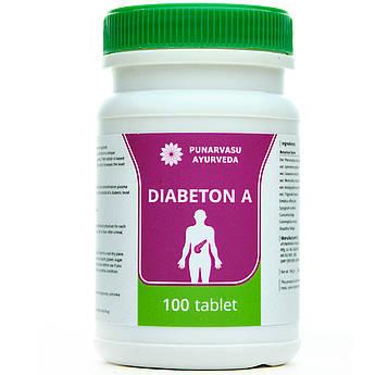 Діабетон-А / Diabetone-A - при підвищеному цукрі, діабет 2-го типу - Пунарвасу - 100 таб