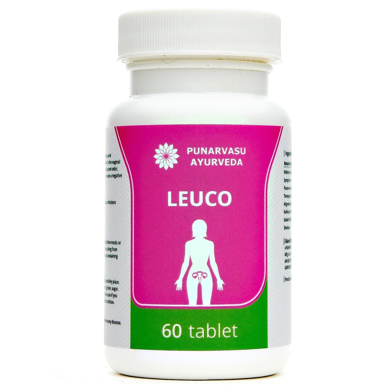 Лейко / Leuco - молочниця, білі - Пунарвасу - 60 таб