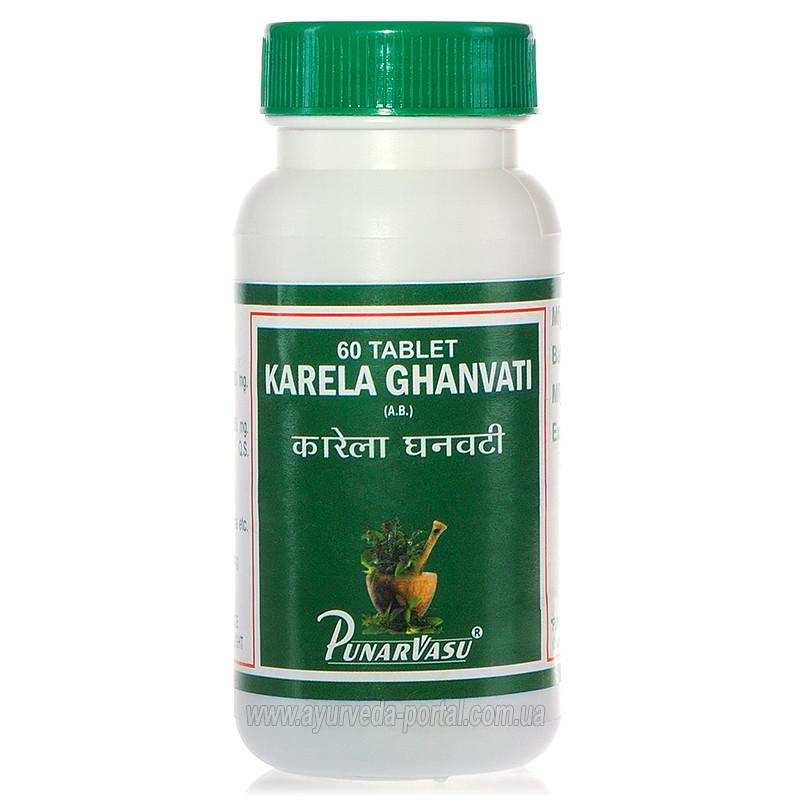 Карела экстракт / Karela ghanvati - диабет, улучшение работы поджелудочной и печени - Пунарвасу - 60 таб
