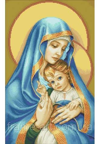 Дантель Арт.407 Мадонна с младенцем, канва с рисунком