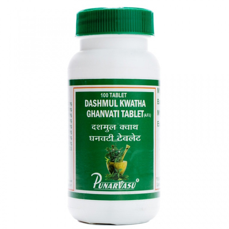 Дашамул кватха гханвати / Dashmul kwatha ghanvati - гормональный баланс - Пунарвасу - 100 таб