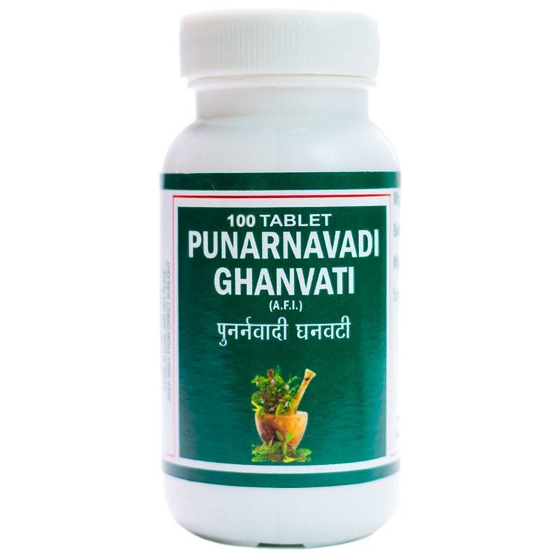Пунарнавади гханвати / Punarnavadi ghanvati - захворювання сечостатевої сфери, покращує роботу печінки і нирок -