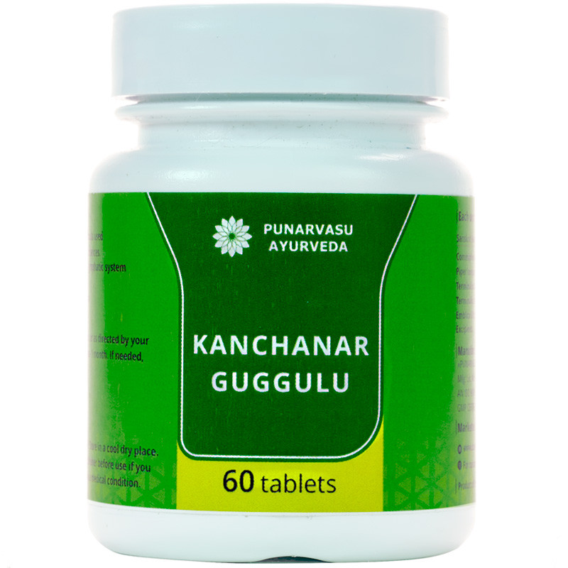 Канчанар гуггул / Kanchanar guggulu - очищение лимфатической системы, опухоли, кисты, простатит - Пунарвасу -