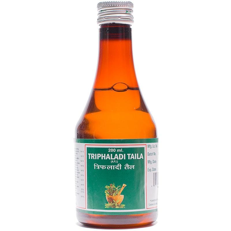 Трифалади таил / Triphaladi taila - омолаживает, питта баланс - Пунарвасу - 200 мл