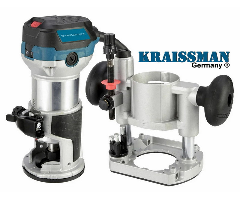 Фрезер-триммер электрический Kraissmann 950 OFT 6-8 (2 базы)
