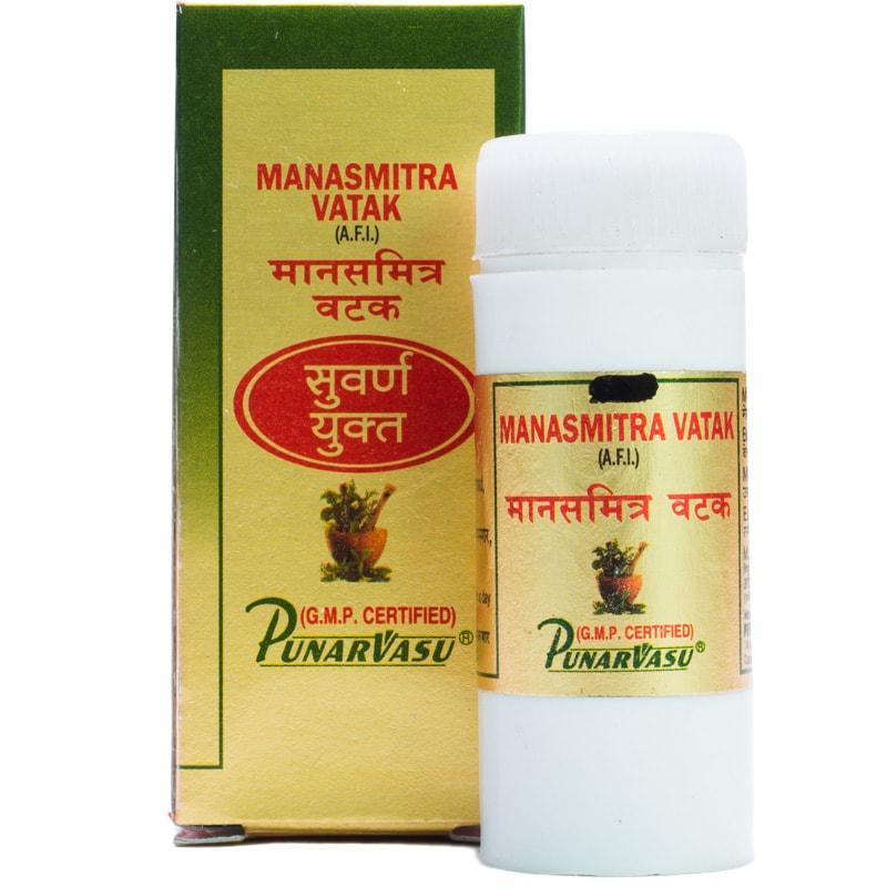 Манасамитра вати с золотом / Manasmitra vatak Mu.Yu. - восстановление нервной системы, стресс, депрессии -