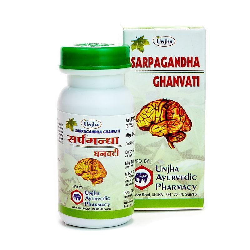 Сарпаганда гханвати / Sarpagandha Ghanvati - аритмия, гипертония - Унжа - 40 таб