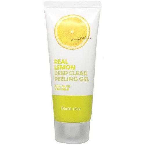 Лимонная пилинг-скатка Farm stay Real Lemon Deep Clear Peeling Gel, 100ml
