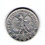 Польша 2 злотых 1932 год серебро Ядвига №247, фото 2