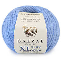 Gazzal Бебі Вул XL 50г/100м 813 блакитний