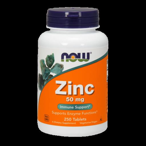 Цинк NOW Zinc Gluconate (50 мг) (250 таб)