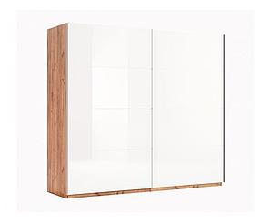 Двухдверный шкаф купе Ники (2 двери Глянец белый)