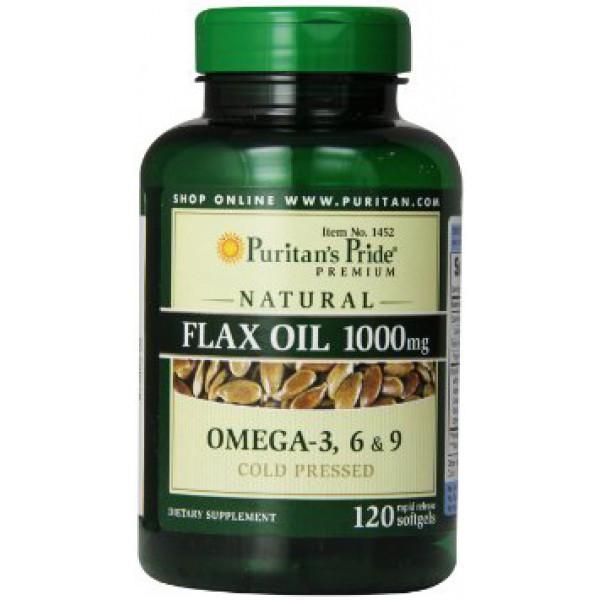 Комплекс незаменимых жирных кислот Puritan's Pride Flax Oil 1000 mg (120 капс)