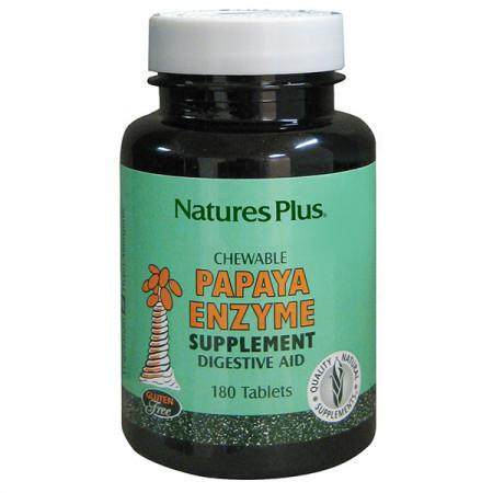 Ферменты Папаи Natures Plus Papaya Enzyme (180 жевательных таблеток)