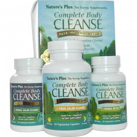 Полное Очищение Организма, Программа на 14 Дней из 3 Частей Natures Plus Complete Body Cleanse