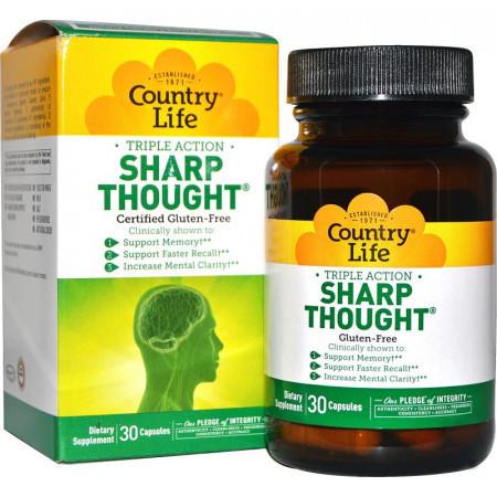 Комплекс для Поддержания Мозговой Деятельности Country Life Sharp Thought (30 капсул)