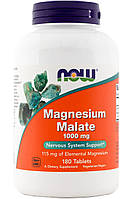 Витамины и минералы NOW Magnesium Malate (180 таб)